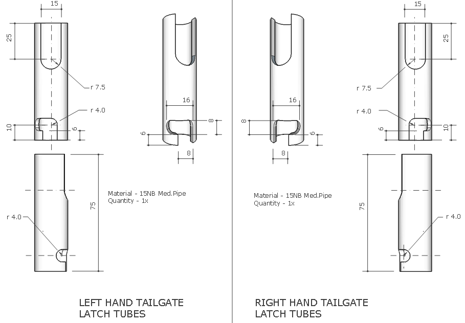 trailer sauce    tailgate latches
