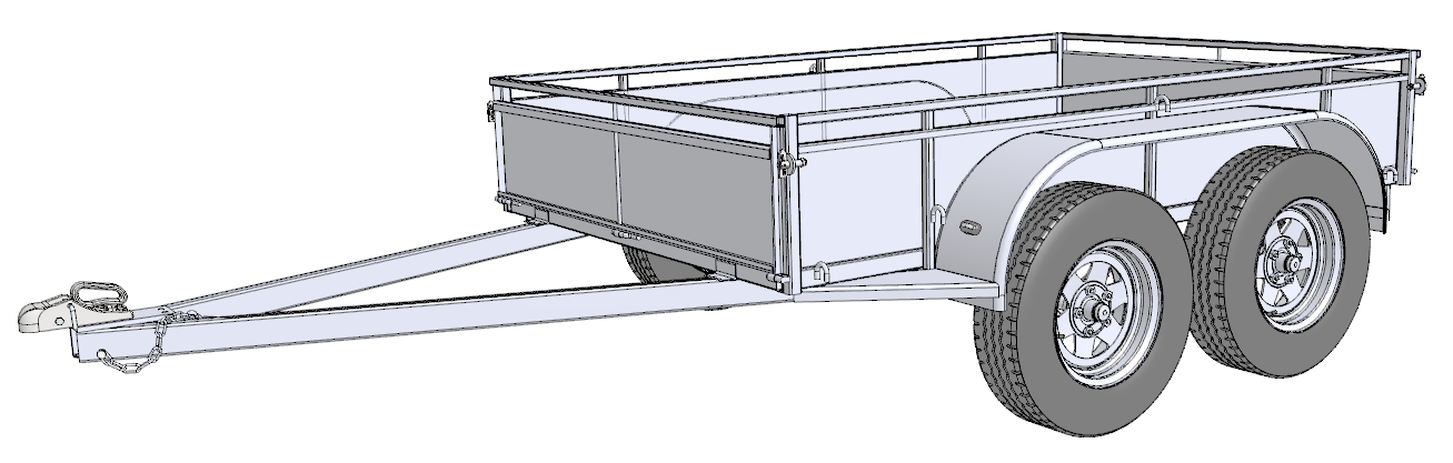 Free trailer building plans trailersauce designs info more 8x5 tandemg malvernweather Image collections